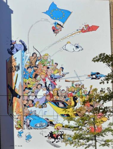 La fresque de Johan de Moor déménagé de l'autre côté de la Gare du Midi - ©EAS - ADT