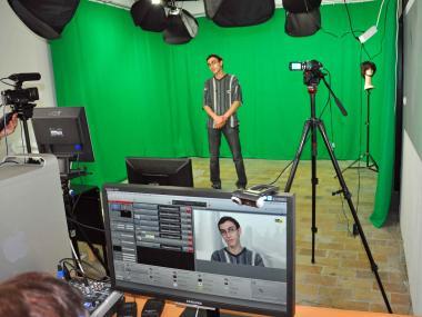Filming in Corsaires TV - ©EAS - ADT