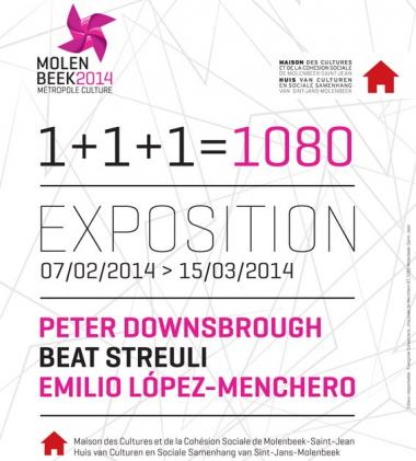 Exhibition '1+1+1=1080' as part of 'Molenbeek, Capital of Culture 2014'