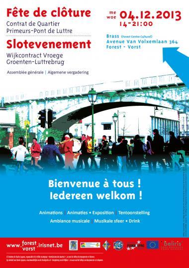 Forest: fête de clôture du Contrat de quartier Primeurs-Pont de Luttre