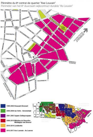 Les enjeux du Contrat de quartier durable «Axe Louvain»