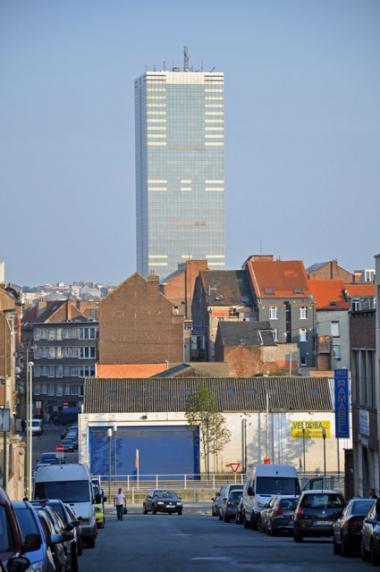 Le quartier et la Tour du Midi. - ©EAS - ADT