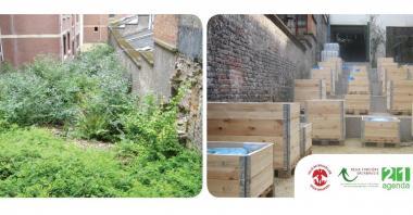 Avant et après l'aménagement - ©Bruxelles-Ville