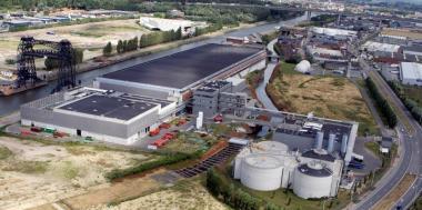 Une vue aérienne de la Station d'épuration Nord de Bruxelles. - ©Aquiris