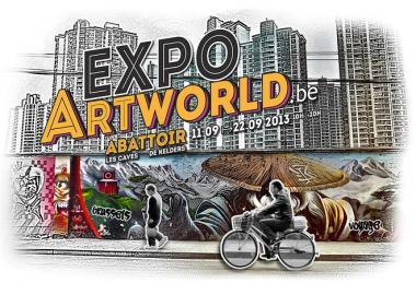 Exposition artworld.be aux Caves d'Abattoir Anderlecht