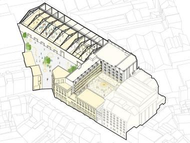 Une vision possible du futur projet. - ©sau-msi.brussels/MSA-Idea-Origin