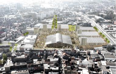 Une vue de ce que le site des abattoirs pourrait devenir à l'horizon 2020 - ©Abatan - Org - Gova