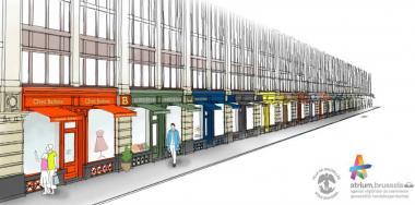 Nieuwe gevels voor veertig winkels in het Zuidpaleis