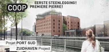 Anderlecht: eerste steenlegging voor COOP/Zuidhaven
