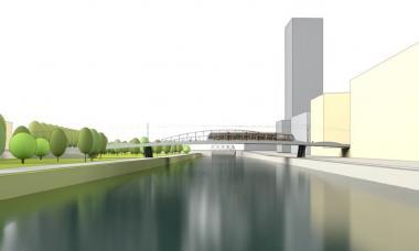 Schets van de toekomstelige Picardnbrug - ©Greisch Beliris