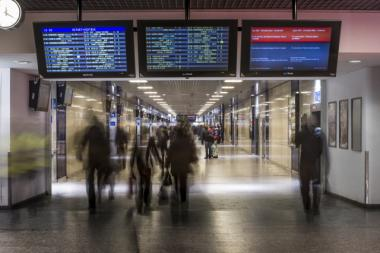 Het metrostation van het Zuidstation is het drukst bezochte metrostation van Brussel.  - ©ADT-ATO/Reporters